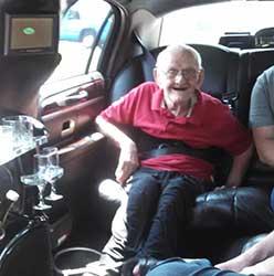Weare Man Celebrates Milestone 90th Birthday By Riding Limo